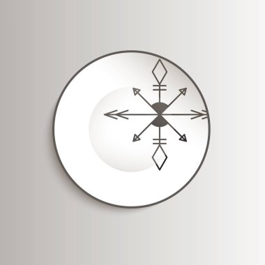 Plate with aztec pattern