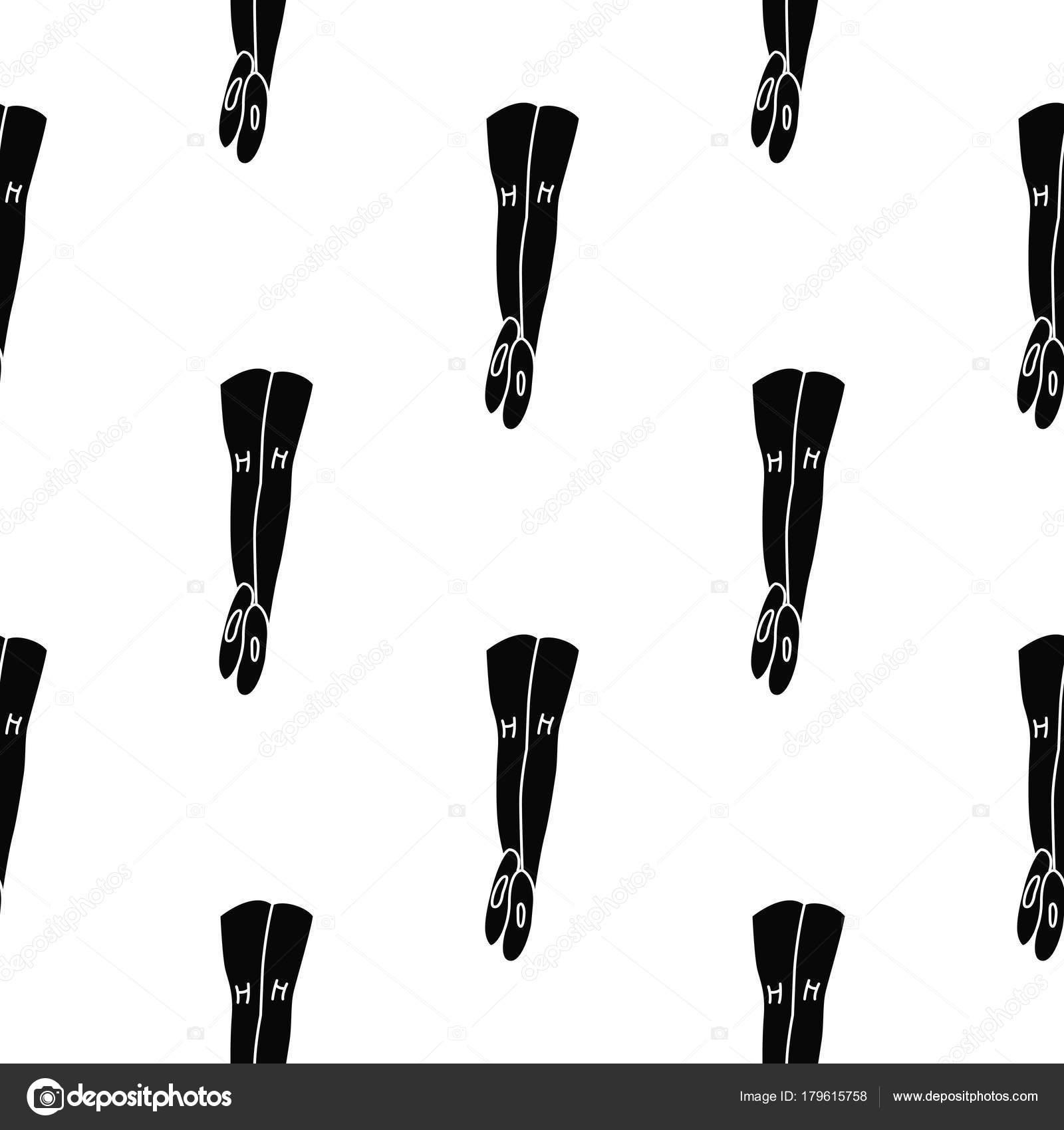 Patrón transparente de mallas de ballet — Vector de stock ...