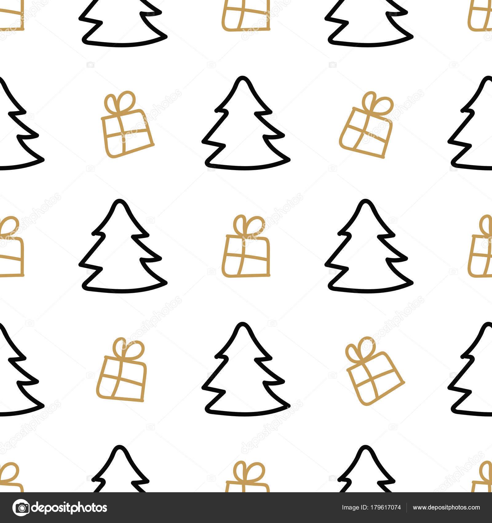 Resumen de patrones sin fisuras feliz Navidad. Estilo escandinavo ...