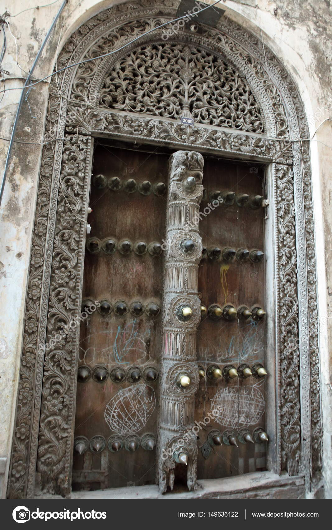 Historic doors in Stone Town on Zanzibar u2014 Stock Photo & Historic doors in Stone Town on Zanzibar u2014 Stock Photo © hecke06 ...