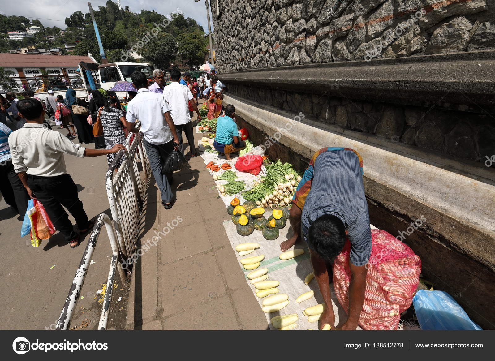 Markthallen straat verkoop van kandy sri lanka december