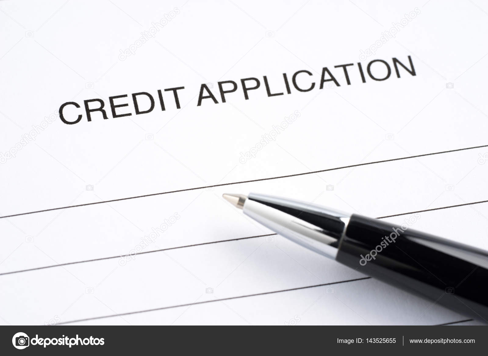 blank credit application form stock photo samsonovs 143525655