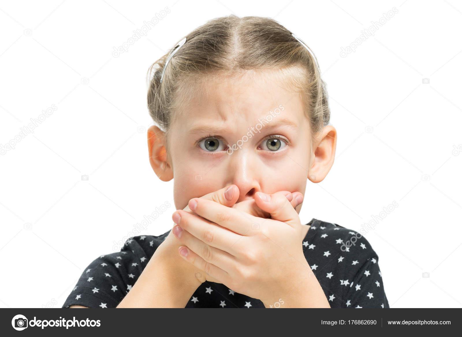 Geste, den Mund zu schließen — Stockfoto © samsonovs #176862690
