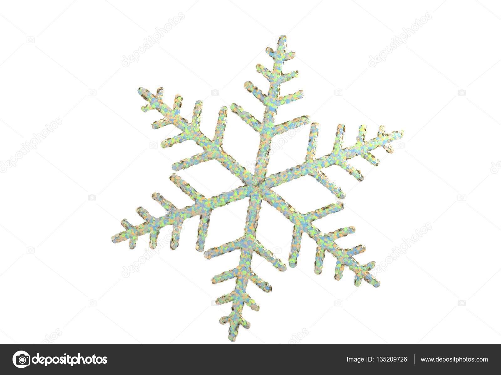 Fiocchi Di Neve Di Carta 3d : Fiocco di neve giocattolo isolato su bianco illustrazione d