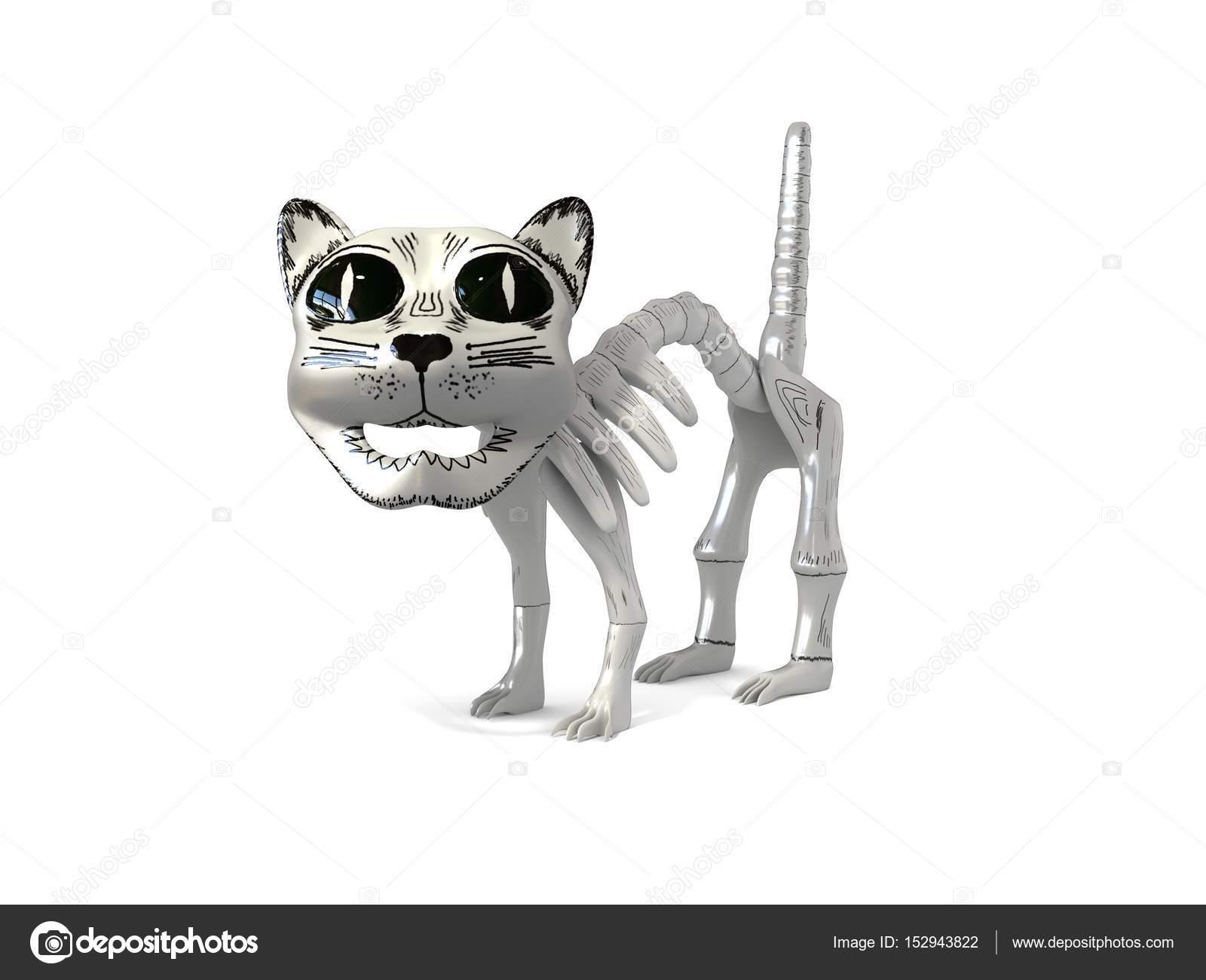 fail cat skeleton doodle - photo #30