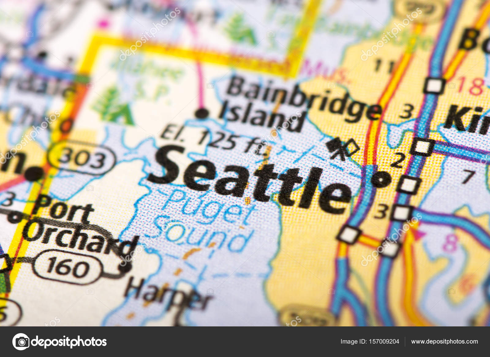 Seattle Political Map.Seattle Washington On Map Stock Photo C Icemanj 157009204