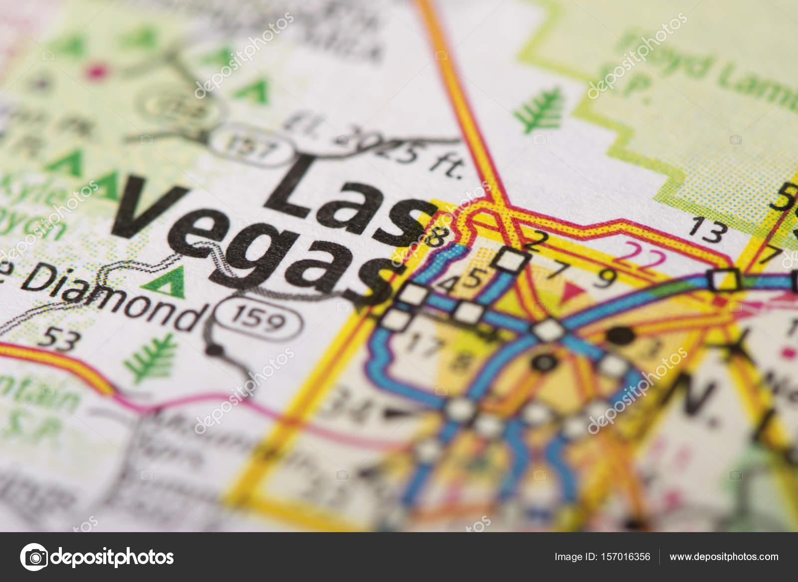 Las Vegas, Nevada on map — Stock Photo © icemanj #157016356