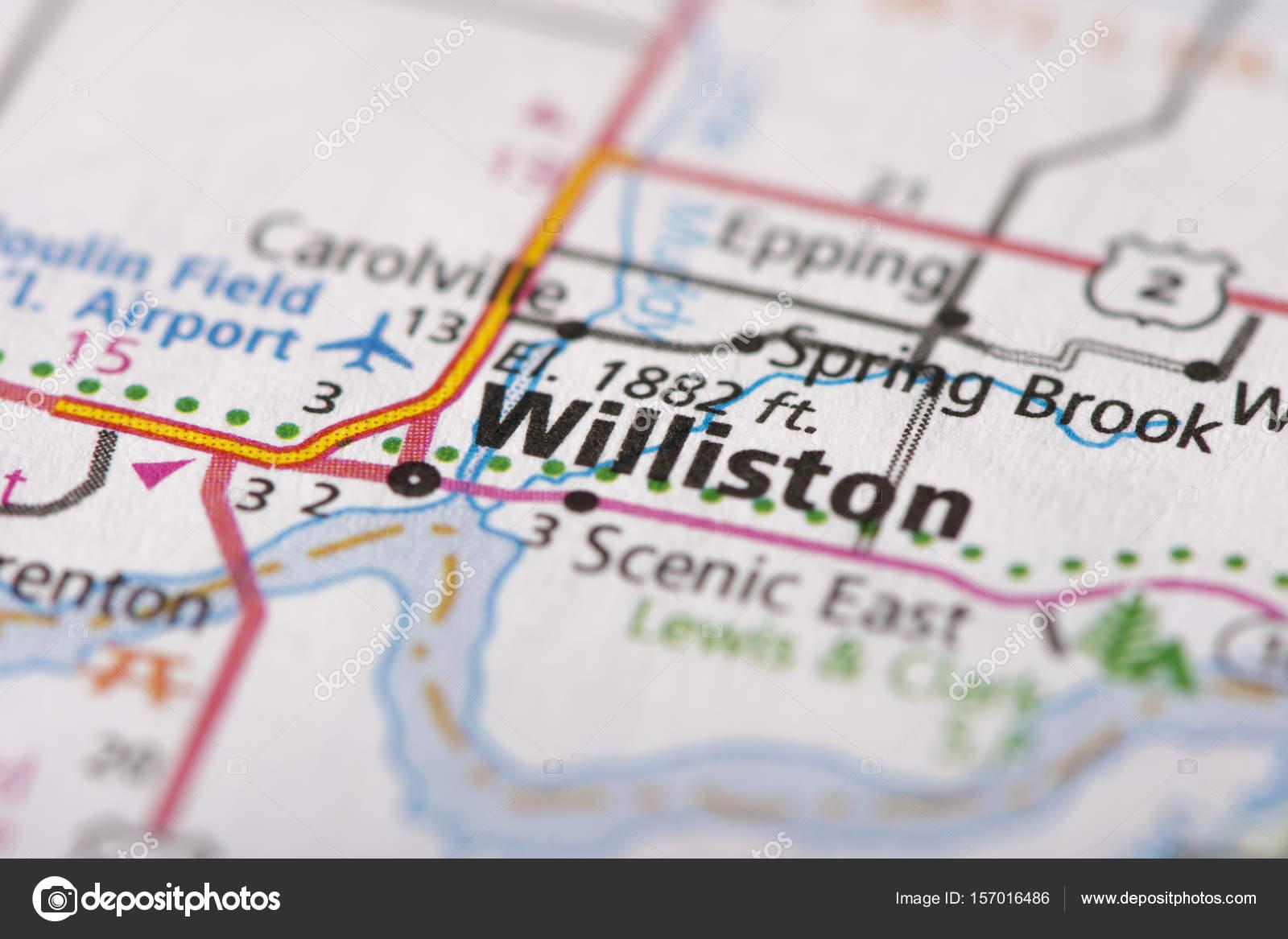 Williston, North Dakota on map — Stock Photo © icemanj #157016486