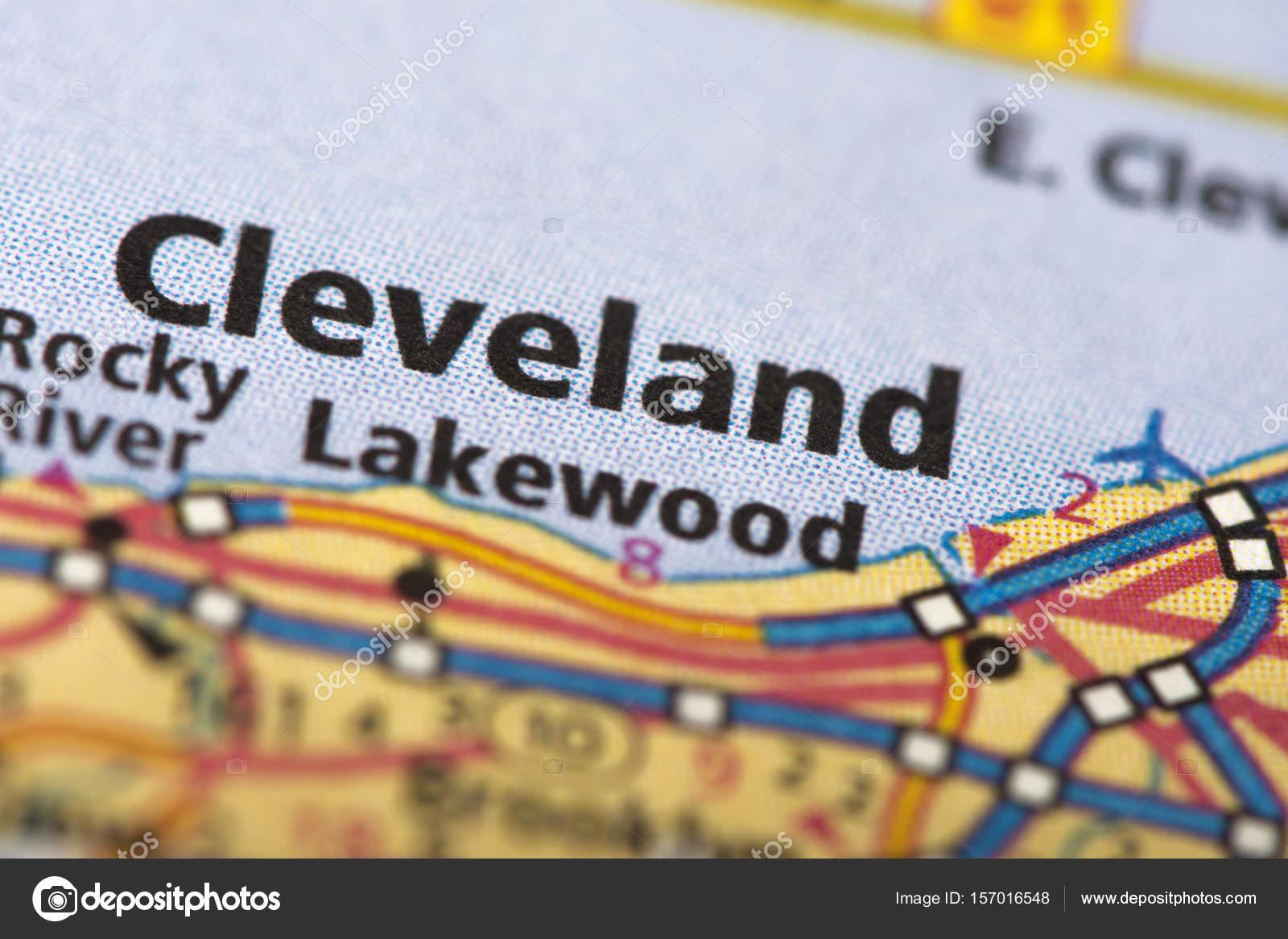 Karta Cleveland Usa.Cleveland Ohio Pa Karta Stockfotografi C Icemanj 157016548