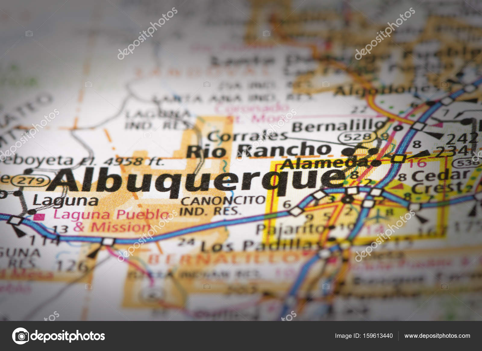 Albuquerque on map — Stock Photo © icemanj #159613440