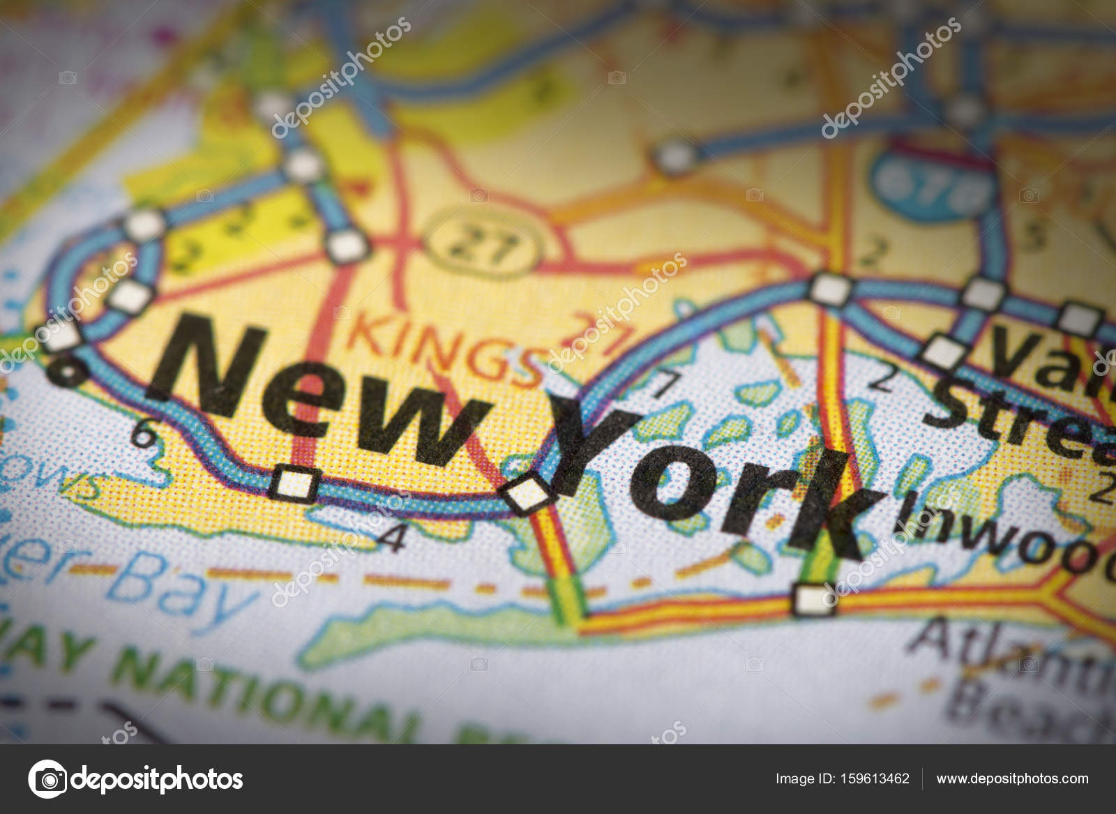 Roadmap Of The Us%0A Road Map Of New York Closeup of New York City on a road map of the