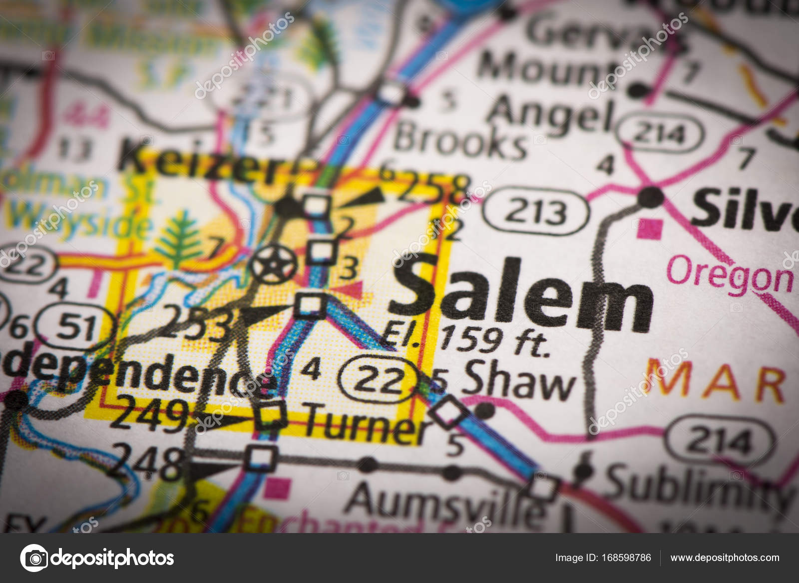 Salem, Oregon on map — Stock Photo © icemanj #168598786