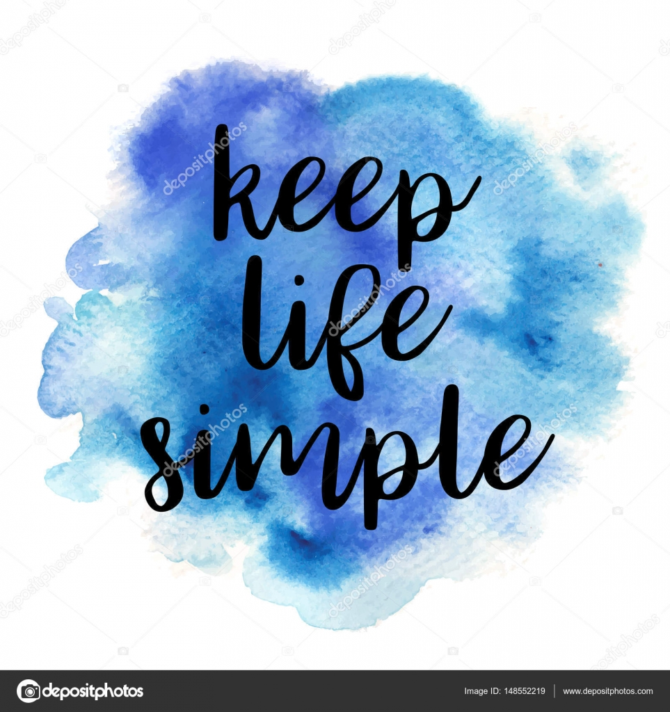 Quote Keep Life Simple Vector Illustration Stock Vector