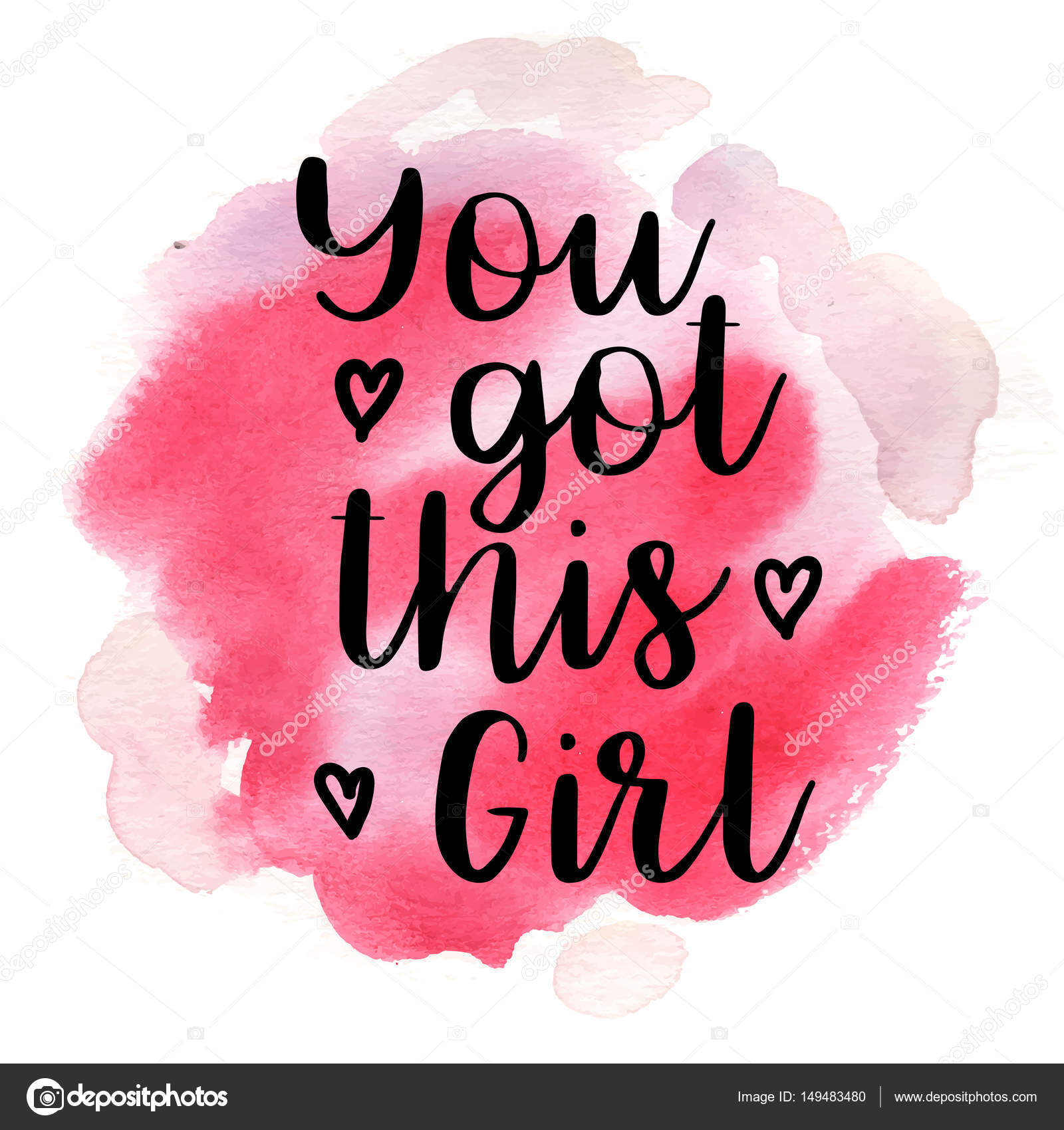 Quote You got this girl. Vector illustration — Stock Vector ...