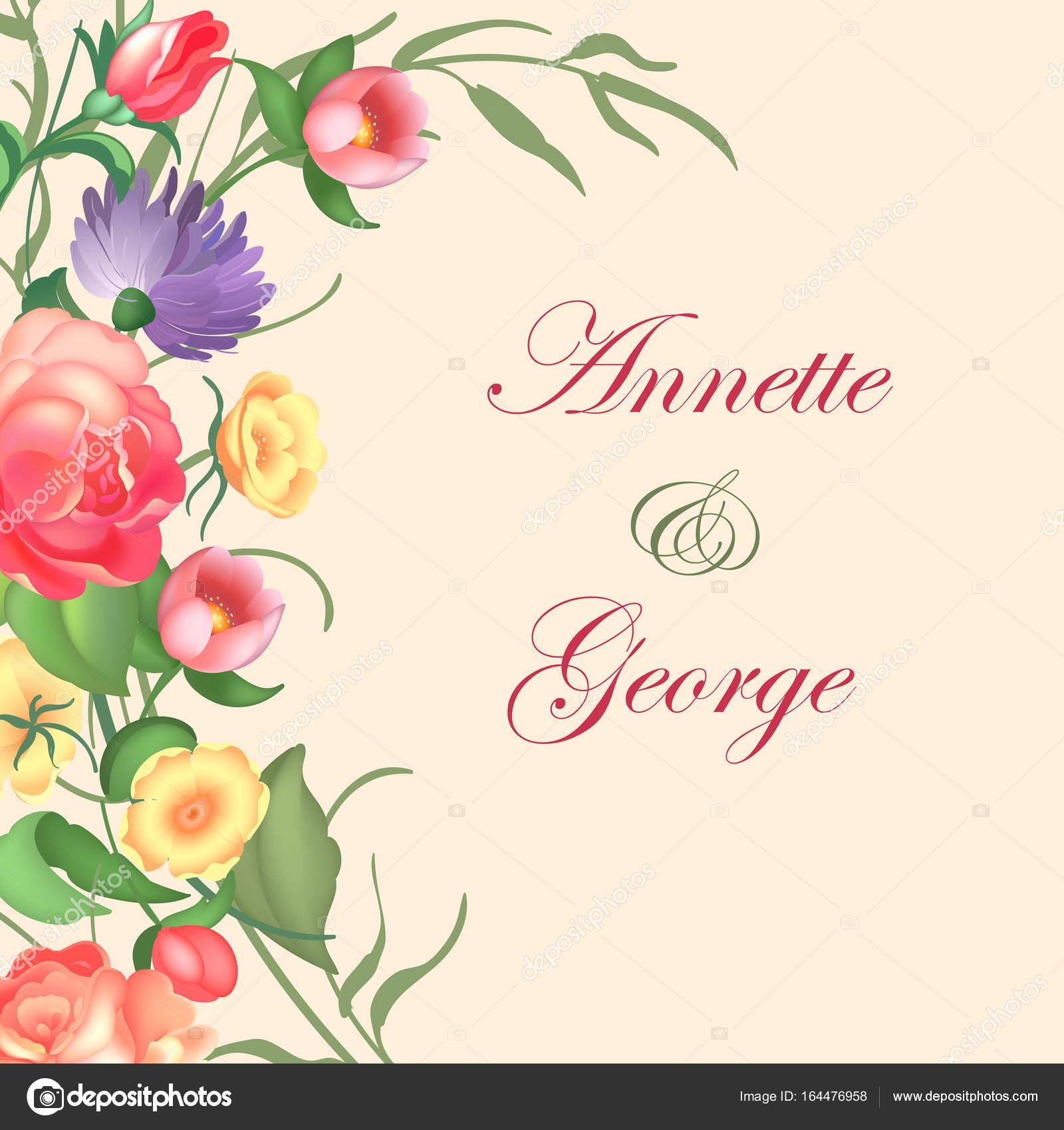 Ilustracja Wektorowa Vintage Ramki Na Tle Kwiatów Na Zaproszenia I
