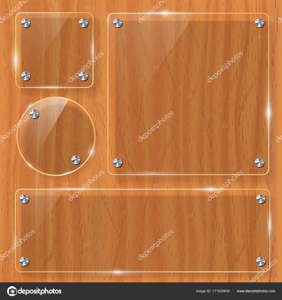 textura de madera con marco de cristal. ilustración vectorial ...