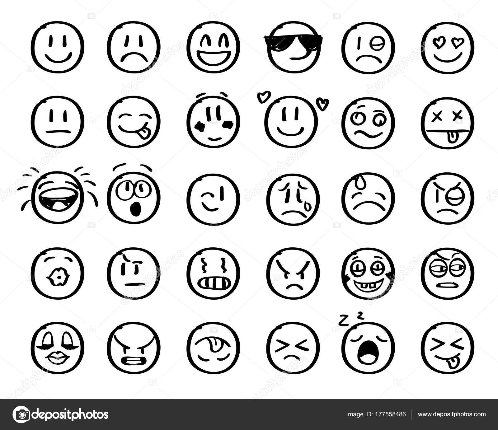 Modern Outline Style Emoji Icons Collection Premium Quality Symbols