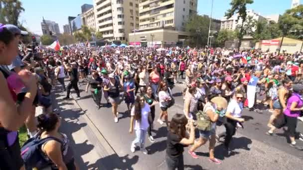 Women's Day demonstration at Santiago de Chile City: Santiago Country: Chile 8th March 2019