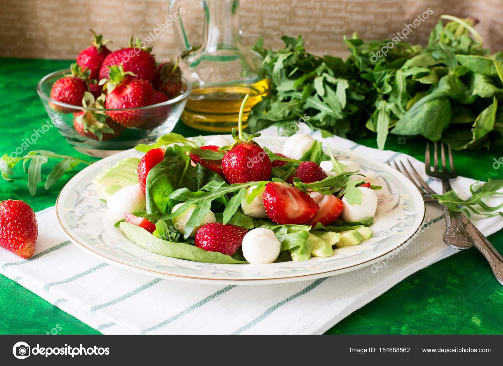 Recetas Ensalada Verde Con Fresas Frescas Ensalada Fresca