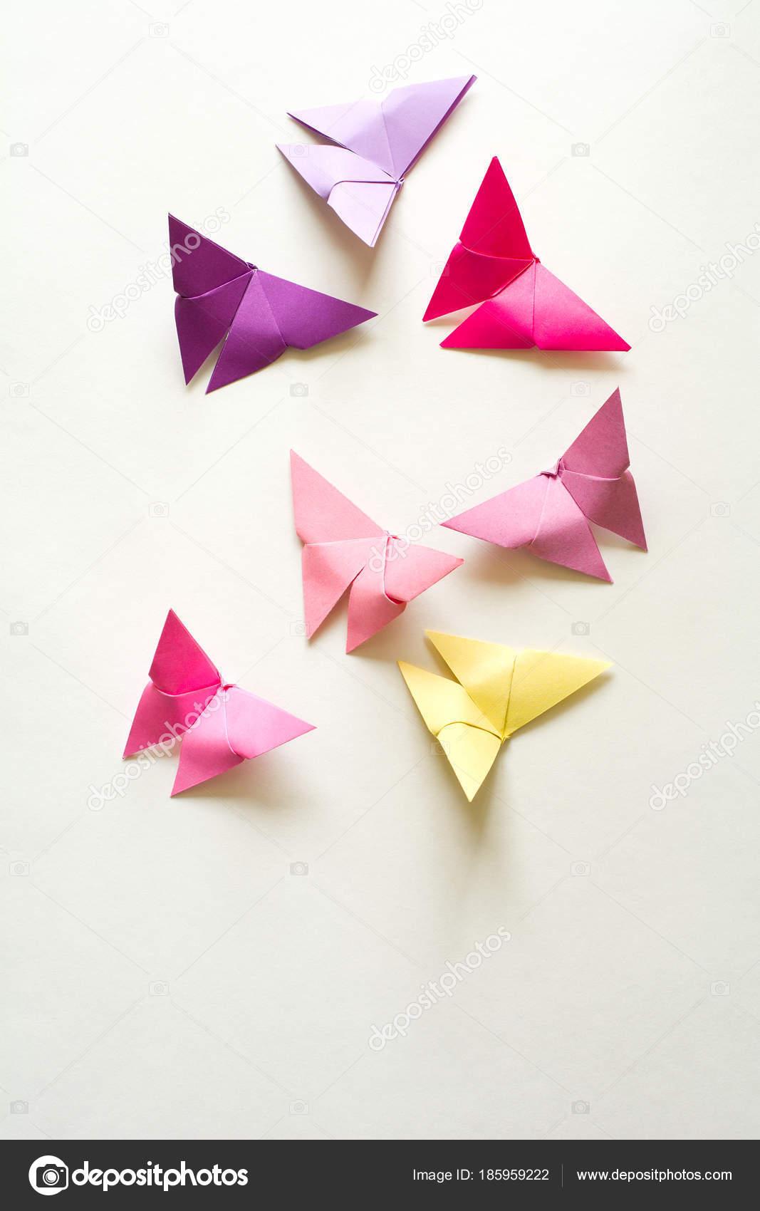 Origami Japans Papier Vlinders Stockfoto Thayra 185959222