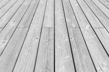 Outdoor wood floor