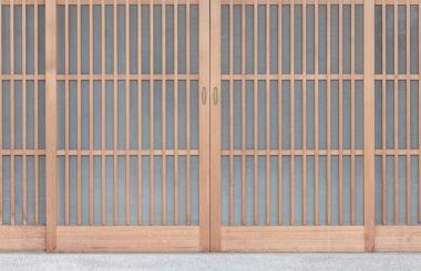 Traditonal Japanese door divider