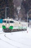 sníh s místním vlakem