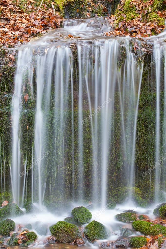 Shiraito Waterfall in autumn season