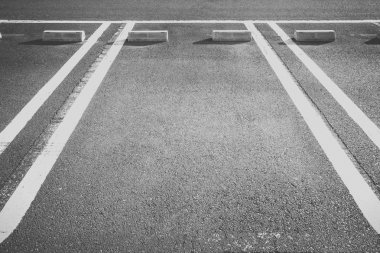 Empty space at car parking lot