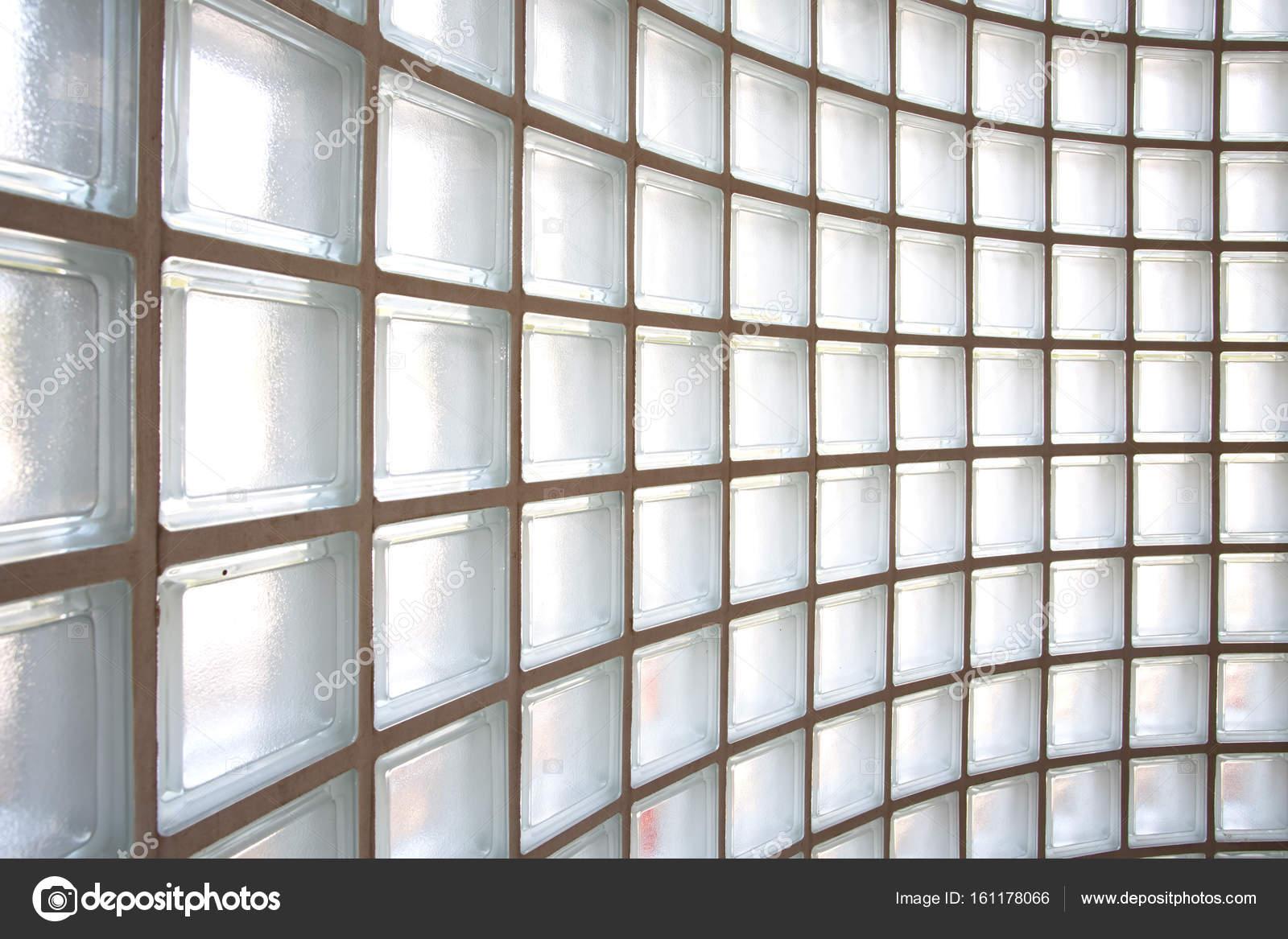 patrón de pared de bloque de vidrio blanco — Foto de stock ...