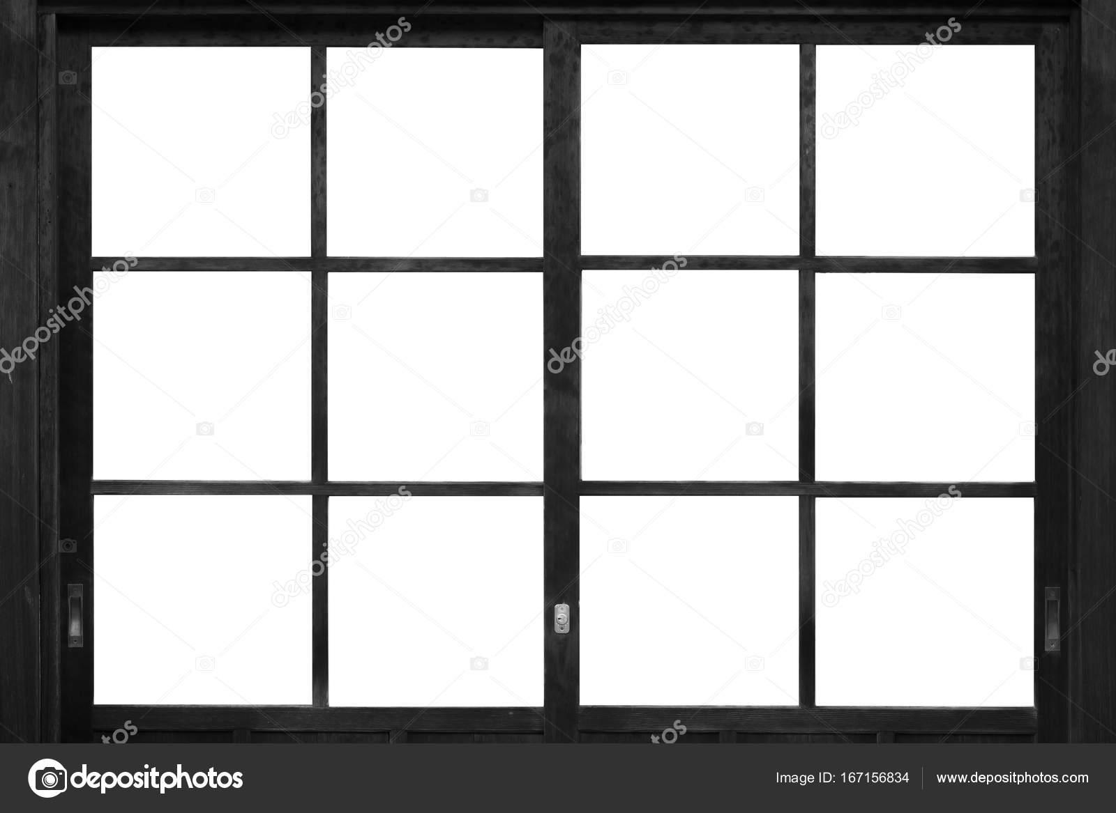 Black wood window frame — Stock Photo © Torsakarin #167156834