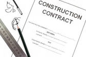 Fotografie Close - up Blank construction contract paper