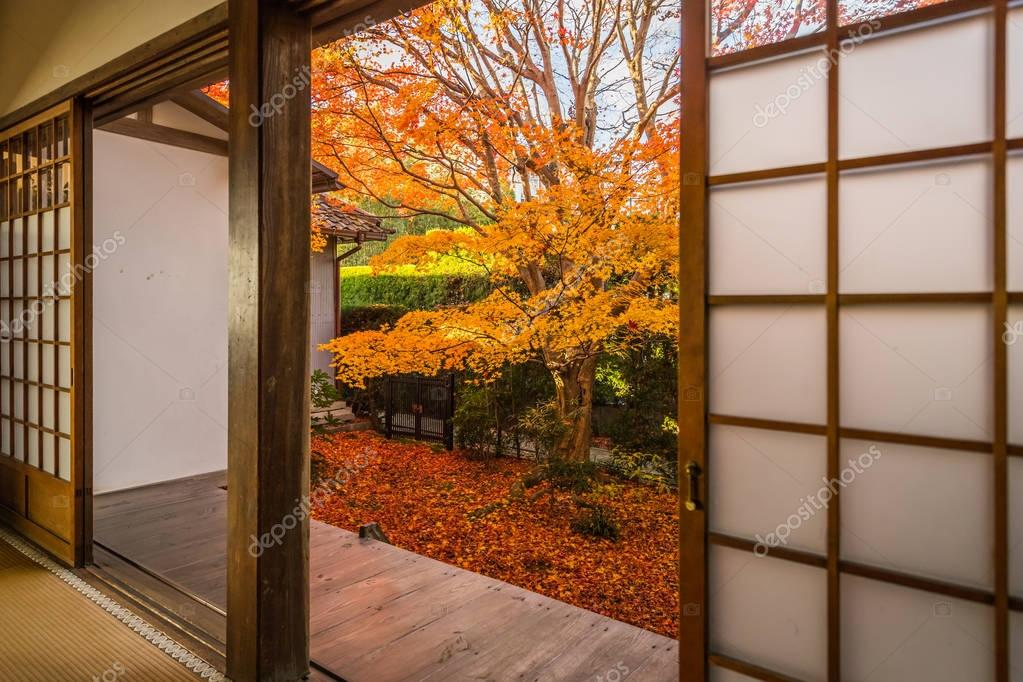 Genko-an Temple at Kyoto in autumn