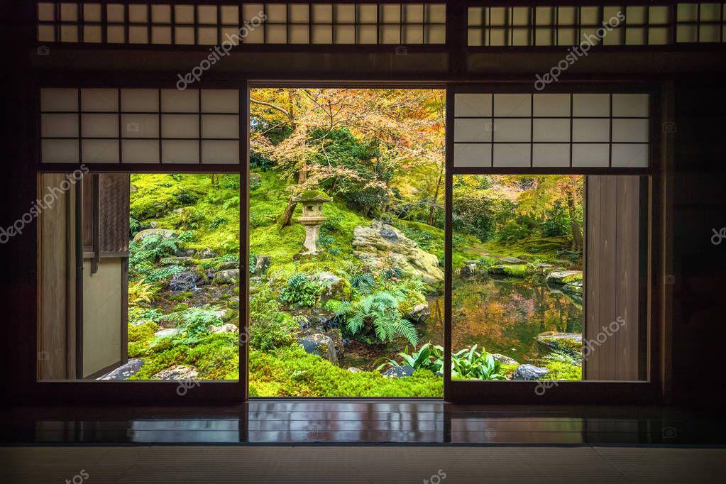 Ruriku in Temple at Kyoto in autumn season