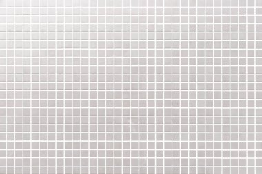 White mosaic tile wall pattern and seamless background