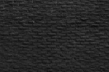 Old black brickwall textured background