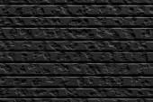Fotografie Vintage černá cihlová zeď, zdivo pozadí pro návrh