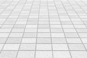 Venkovní bílé dlaždice podlahy pozadí