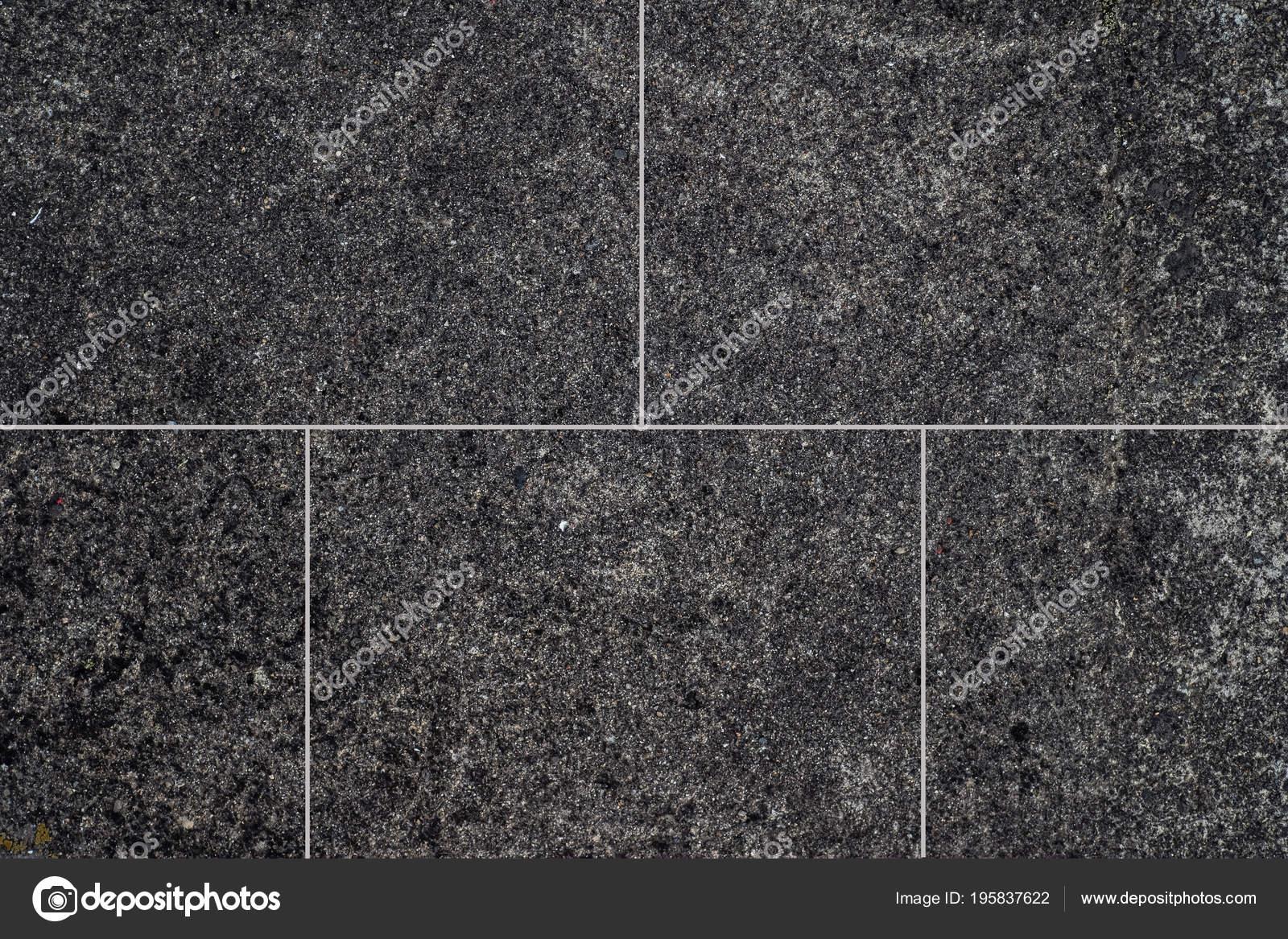 Natural Black Stone Tile Floor Background Texture Stock Photo
