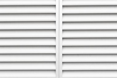 Close-up white shutter window as background
