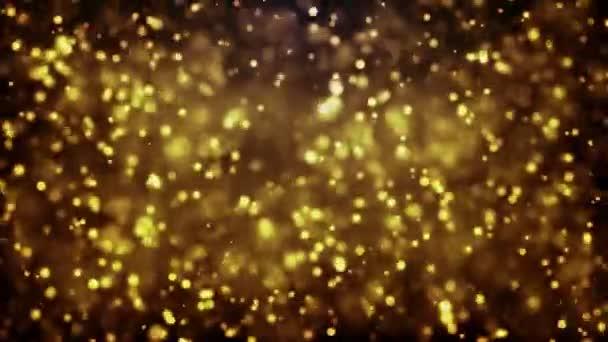 Abstraktní rozmazané zářící částice, jiskřivé pozadí bokeh
