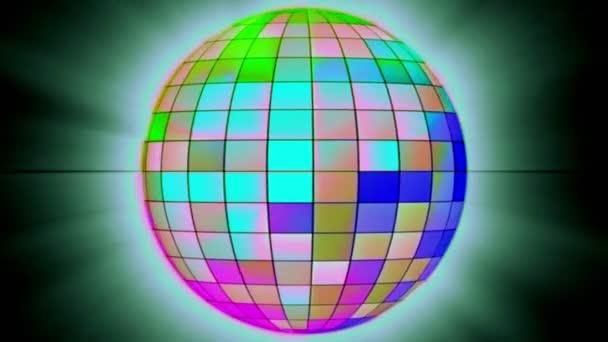 Digitálně generované Sparkle disco koule pozadí 3D vykreslování