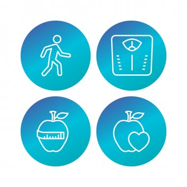 4 Set Of health icons isolated on white background...