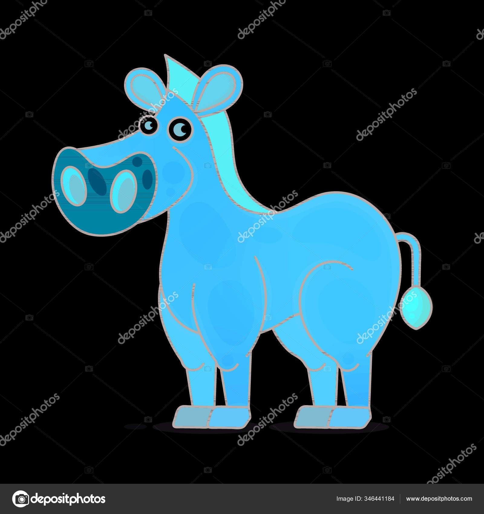 Kuda Dalam Gambar Vektor Gaya Kartun Pada Latar Belakang Putih Stok Vektor C Yayimages 346441184