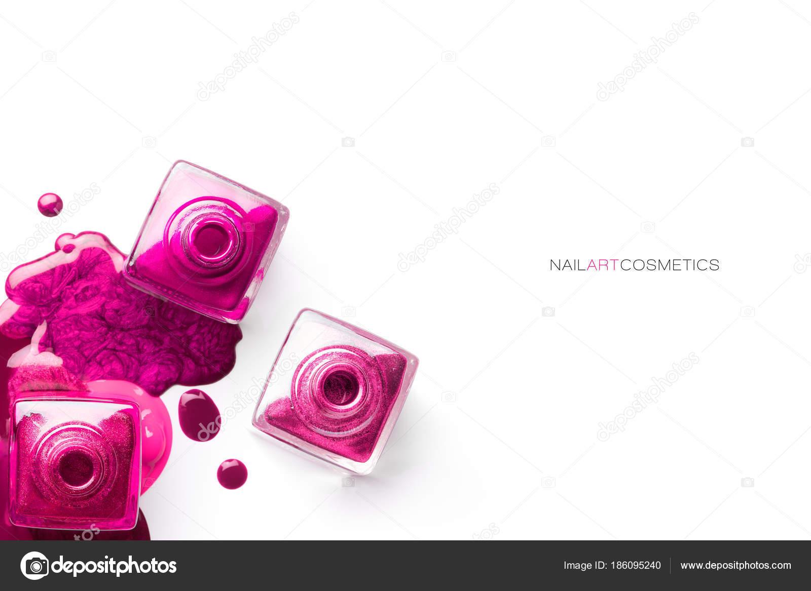 Concepto de arte de uñas. Esmalte de uñas de diferentes tonos de ...