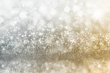 Silver and Gold Christmas background