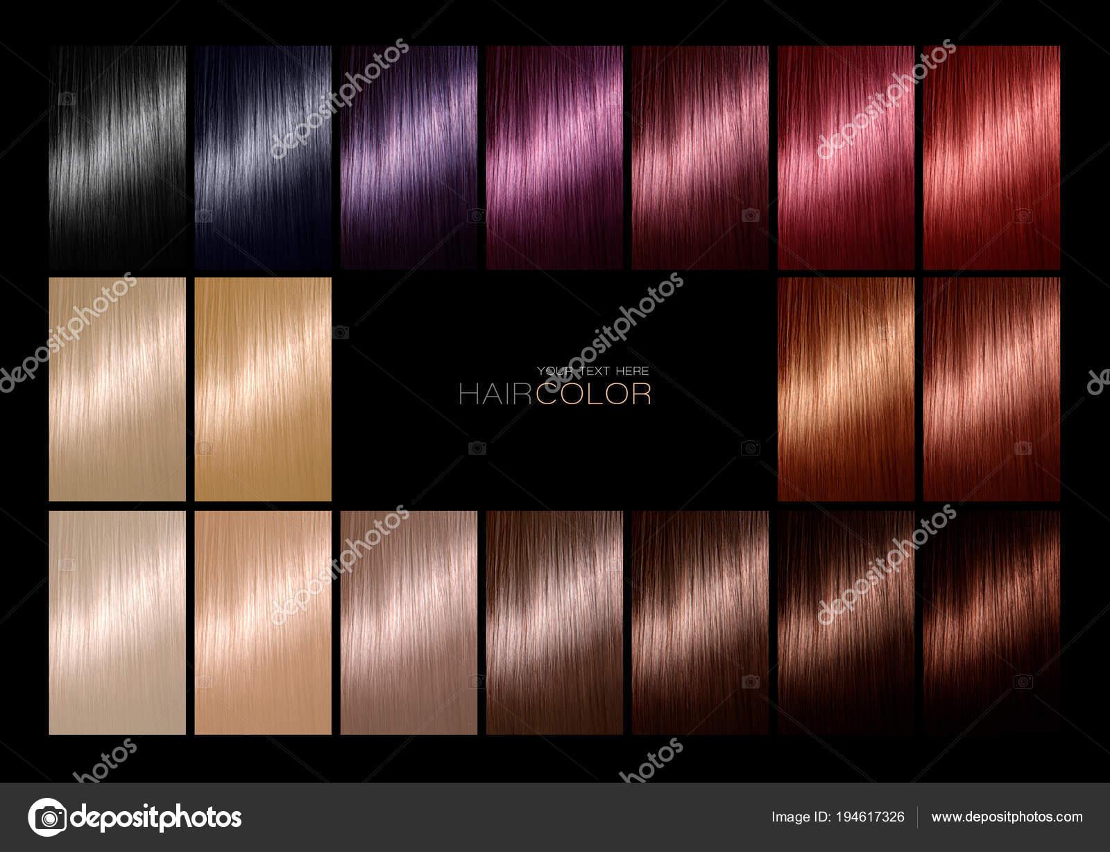 Farbkarte Für Haare Färben Tönungen Haar Farbpalette Mit Einer