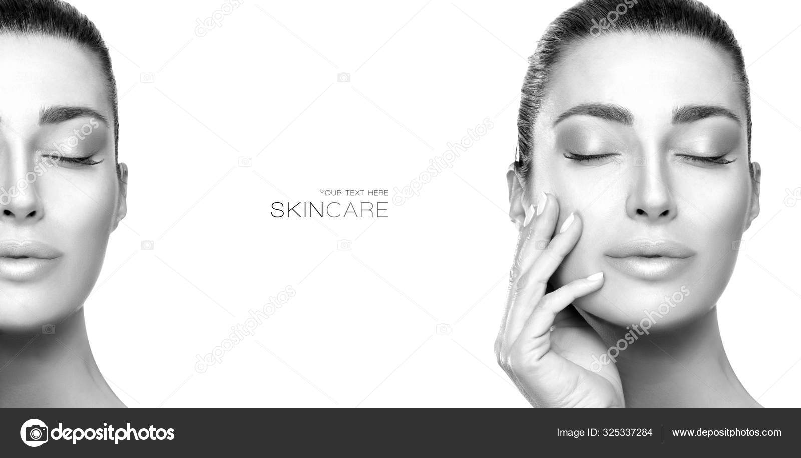 Beauty Face Spa Woman Greyscale Beauty Portrait Of A Sensual Young Woman Stock Photo C Casther 325337284