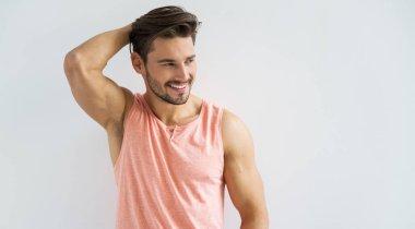 beard man smiling