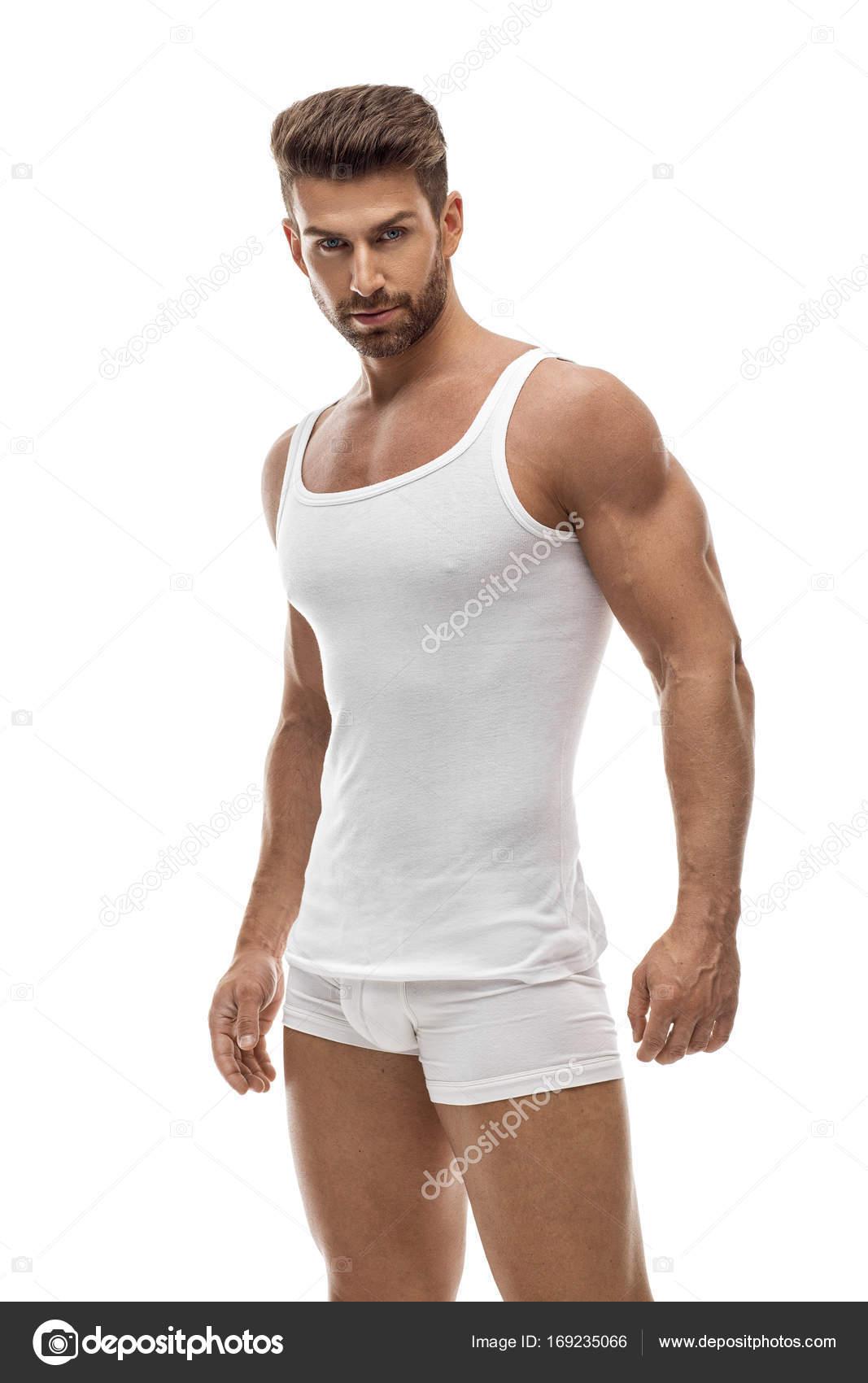 db0bed4224 Modelo masculino sexy en ropa interior — Foto de Stock